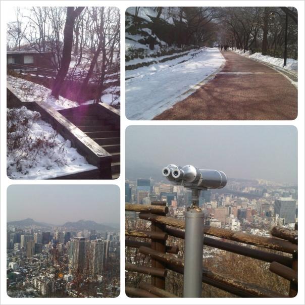 Namsan walking trail's view